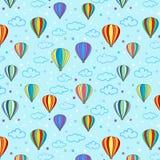 Hoade Seamless luftar ballongen mönstrar Arkivfoton
