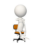 Hoagie giving thumbs down on chair. View 6 stock illustration