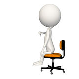 Hoagie giving thumbs down on chair. View 3 vector illustration