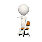 Hoagie giving thumbs up on chair. View 6 vector illustration