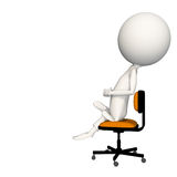 Hoagie obsiadanie na krześle z pięścią w ręce Zdjęcie Stock