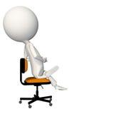 Hoagie obsiadanie na krześle z pięścią w ręce Obraz Stock