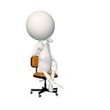 Hoagie obsiadanie na krześle z szkłami w ręce Obrazy Royalty Free
