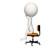 Hoagie with right fist up in air on chair. View 3 vector illustration