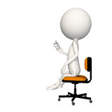 Hoagie sitting on chair with glasses in hand. View 3 royalty free illustration