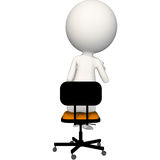 Hoagie sitting on chair with glasses in hand. View 4 vector illustration
