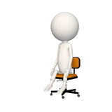 Hoagie sitting neutral on chair. View 2 stock illustration