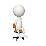 Hoagie sitting neutral on chair. View 6 vector illustration