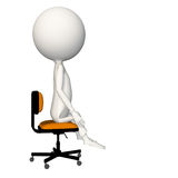 Hoagie sitting neutral on chair. View 5 royalty free illustration