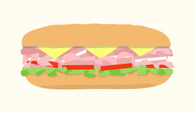 Hoagie submarine sandwich Stock Image