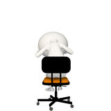 Hoagie upset or depressed on chair. View 4 royalty free illustration