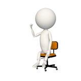 Hoagy con el puño derecho para arriba en aire en silla stock de ilustración
