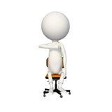 Hoagy que da los pulgares para arriba en silla ilustración del vector