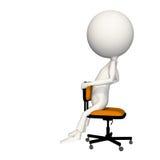 Hoagy que se sienta en silla al revés stock de ilustración