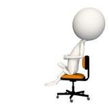 Hoagy que se sienta en silla con el puño a disposición ilustración del vector