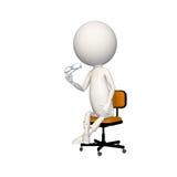 Hoagy que se sienta en silla con los vidrios a disposición stock de ilustración