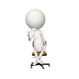 Hoagy que se sienta en silla con los vidrios a disposición libre illustration