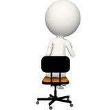 Hoagy que se sienta en silla con los vidrios a disposición ilustración del vector