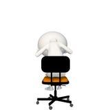 Hoagy trastornado o presionado en silla libre illustration
