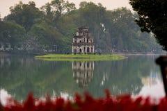 Hoan Kiem湖Sword湖, Ho Guom 免版税库存照片