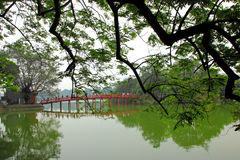Hoan Kiem湖 免版税图库摄影