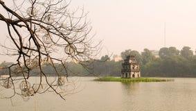 Hoan Kiem jezioro, Hanoi Zdjęcie Stock