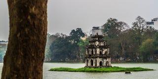 Hoan Kiem Lake, Landmark of Hanoi, Vietnam stock photos