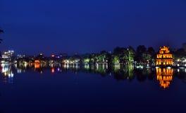 Hoan Kiem Lake, Hanoi, Vietnam. The reflection of Hoan Kiem Lake, Hanoi, Vietnam Royalty Free Stock Image