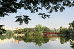 Hoan Kiem Lake in Hanoi, Vietnam Stock Photography