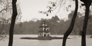 Hoan Kiem Lake, Landmark of Hanoi, Vietnam stock photography