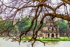 Hoan Kiem Lake, Landmark of Hanoi, Vietnam stock photo