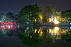 Hoan Kiem Lake Night View Stock Photography
