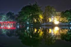 Hoan Kiem Lake Night View Stock Photography