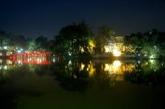 Hoan Kiem Lake Night View Royalty Free Stock Photography