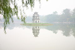 Hoan Kiem Lake, Viet Nam. Hoan Kiem Lake in central Hanoi, Viet Nam Royalty Free Stock Photography