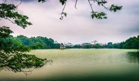 Hoan Kiem sjö Royaltyfri Bild