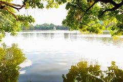 Hoan Kiem sjö i mummel Noi Arkivfoto