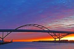 hoan soluppgång för bro Royaltyfri Fotografi