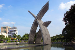 Hoang Van Thu Park monument in Ho Chi Minh (Saigon) city, Vietnam. Hoang Van Thu Park monument in Ho Chi Minh (Saigon) city from airport Tan Son Nhat side Stock Photography