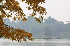 Hoankiem jezioro w Hanoi, Wietnam Obrazy Stock