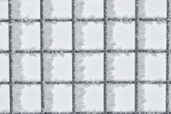 Hoar Frost on Wire Fence Royalty Free Stock Images