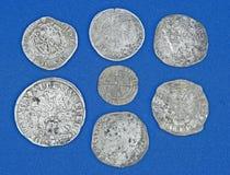Hoard de moedas históricas. fotografia de stock royalty free