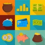 Hoarding icons set, flat style. Hoarding icons set. flat set of 9 hoarding vector icons for web isolated on white background Royalty Free Stock Photography