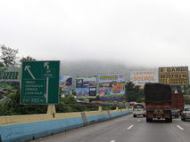 Hoardings on Highway Royalty Free Stock Images