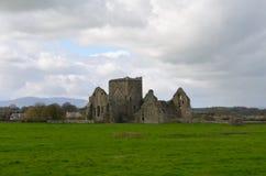 Hoare Abbey Ruins in un campo verde fertile Immagine Stock
