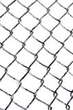 Hoarfrost στο φράκτη συνδέσεων αλυσίδων Στοκ φωτογραφία με δικαίωμα ελεύθερης χρήσης