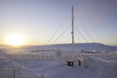 Cell site in Chukotka, Russia Stock Photo