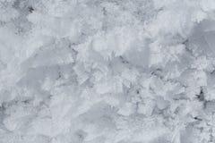 Hoarfrost crystals Stock Photo