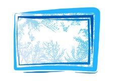 Hoarfrost grunge background Stock Image