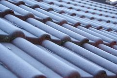 Hoarfrost na dachu Fotografia Royalty Free